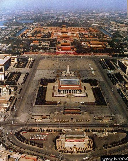 bird's view of tiananmen square, visit tiananmen square
