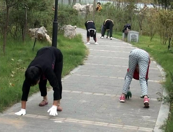 chinese way of morning exercise