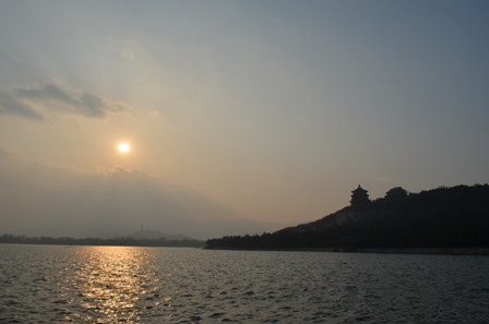 sunset view of the summer palace